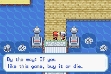 Piracy Warning in FireRed and LeafGreen