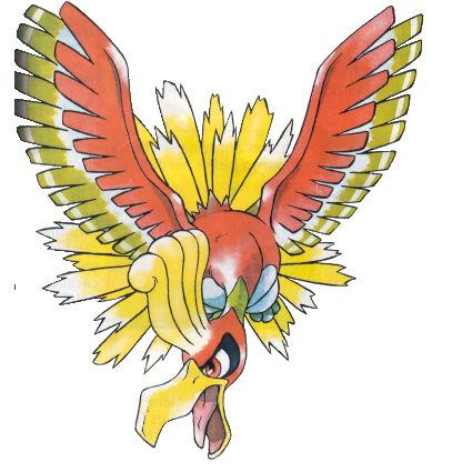 Ho-Oh Artwork from Pokemon Gold