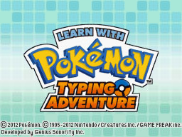 Learn with Pokémon Typing Adventure Title