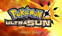 Pokemon Ultra Sun title screen