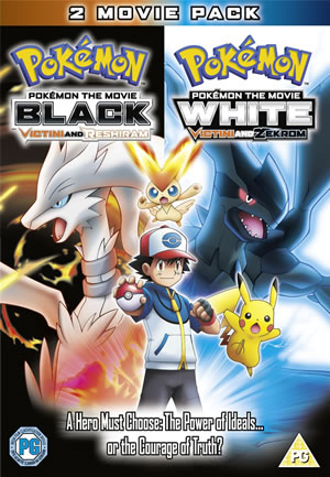 Pokemon Black & White Victini & Reshiram/Zekrom Cover
