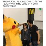 Accepting Pikachu Petting