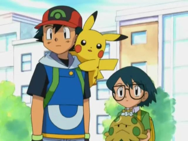 Ash and Max with the Shroomish