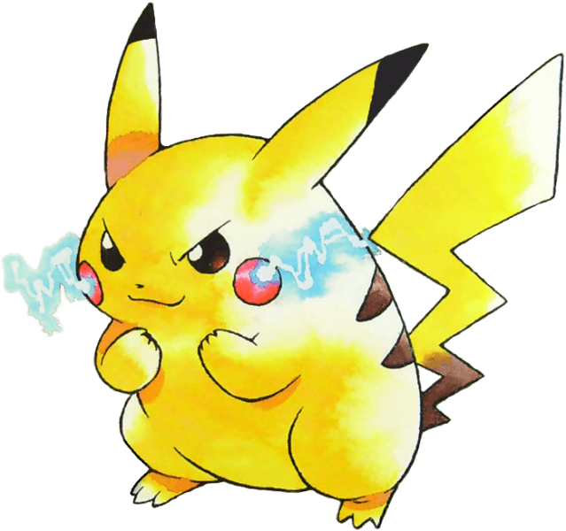 The Pikachu Artwork from the Games Cover