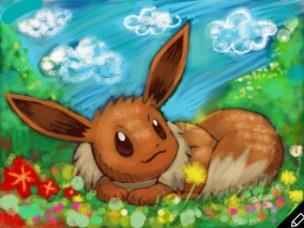 An example artwork of Eevee