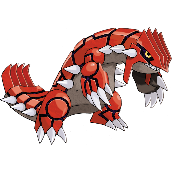 Groudon, the Legendary mascot of Ruby