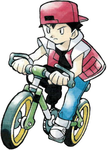 Red on his bike, looks strangely familiar.