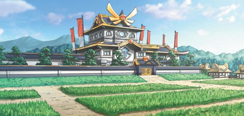 Pokemon Conquest The Aurora Castle in the Kingdom of Aurora