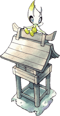 Celebi artwork from Pokemon Crystal