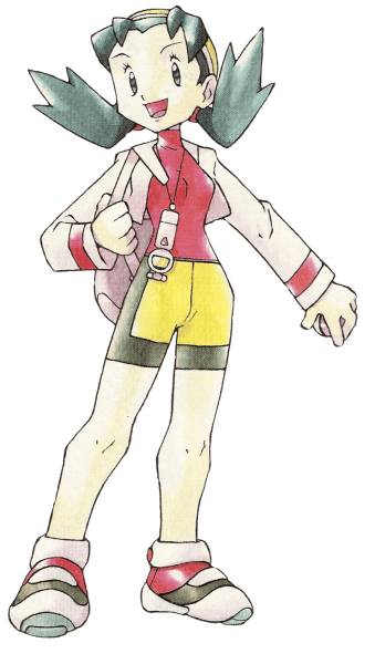 Kris the Female Pokemon Trainer that was introduced in Pokemon Crystal