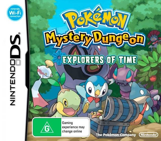 au pokemon mystery dungeon explorers of time front cover