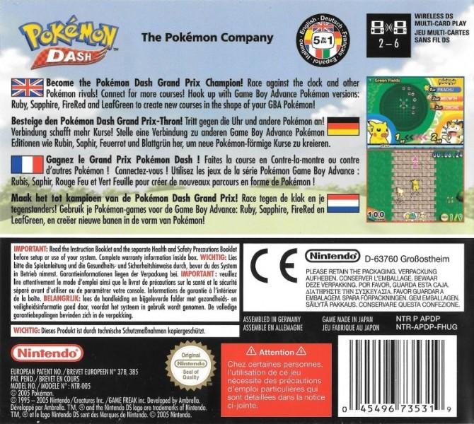 eu pokemon dash back cover
