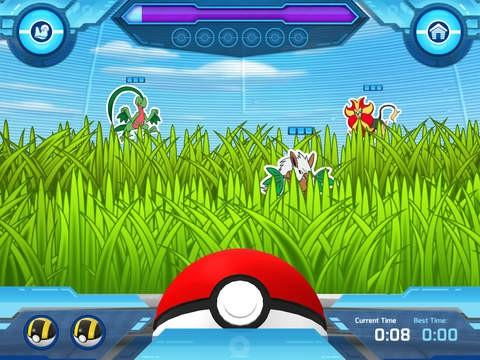 A screenshot of Pokeball throw