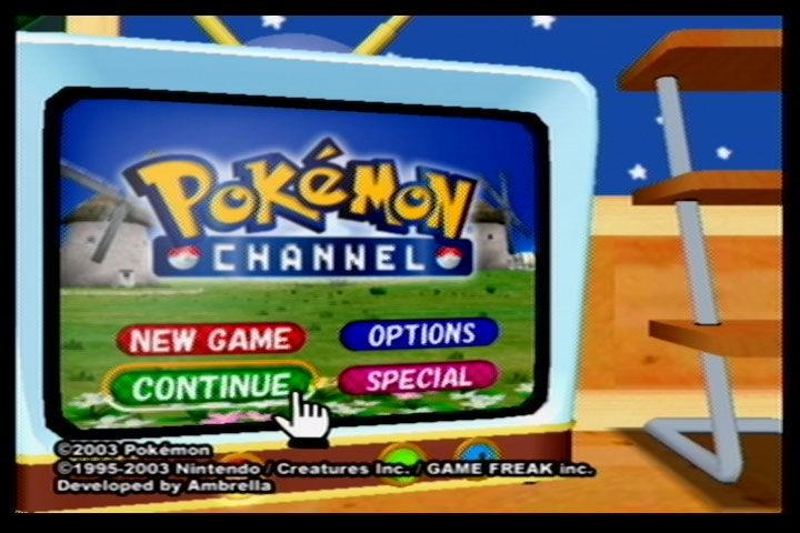 A screenshot of Pokémon Channel