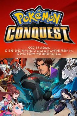 Pokemon Conquest title screen