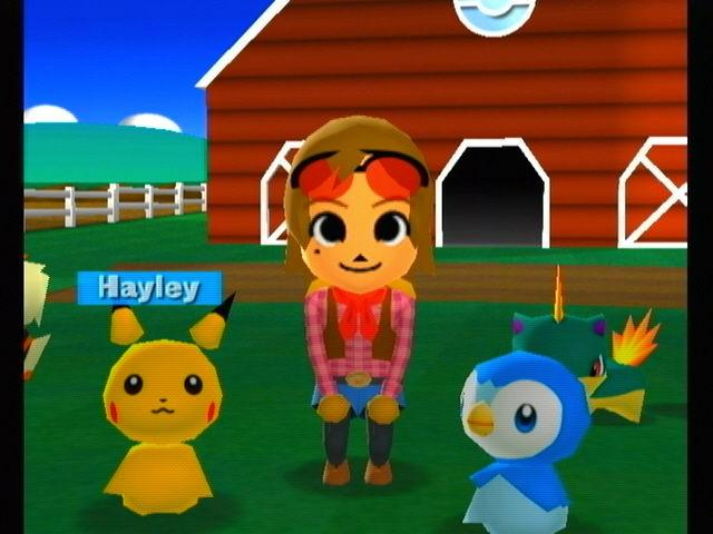 Hayley, Pikachu, Piplup and Quilava in my Pokemon Ranch