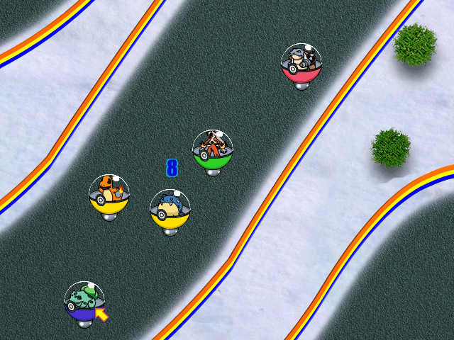 Pokemon Racing in Pokemon Team Turbo
