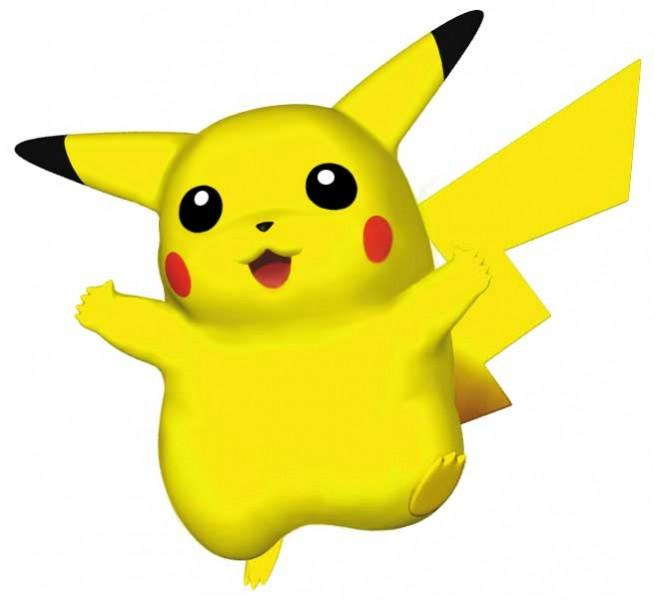 Pikachu model from Pokemon Stadium on the Nintendo 64