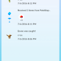 850845 pokemon go android screenshot recent actions taken