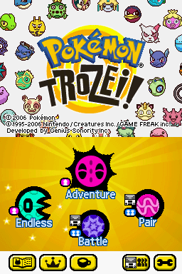 441897 pokemon trozei nintendo ds screenshot title screen with main