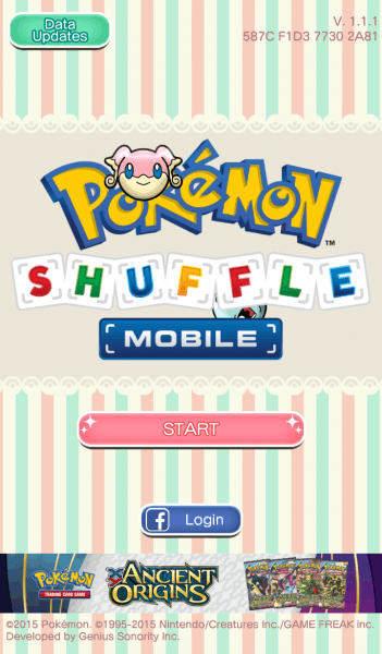 Pokemon Shuffle Android title screen