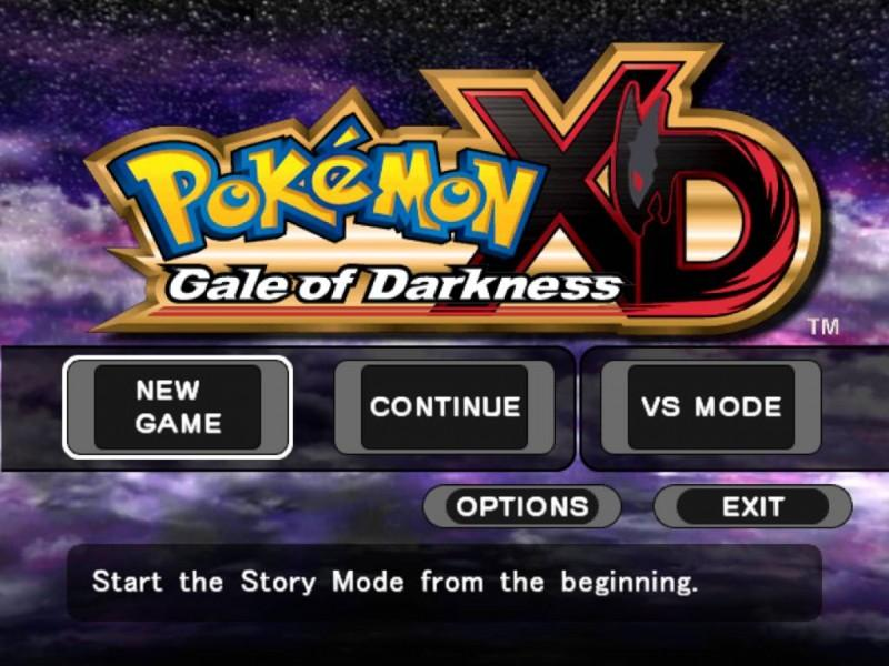 Pokemon XD: Gale of Darkness Title Screen
