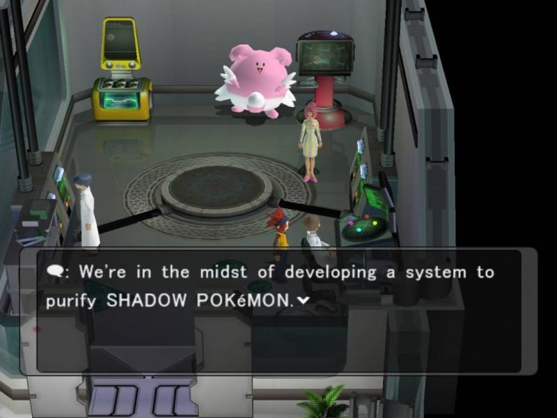 The lab - developing a cure for shadow Pokemon