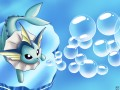 Vaporeon firing a bubble beam. Blue Wallpaper.