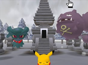 The exterior of the ruins of truth in Pokémon Channel