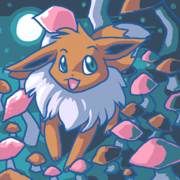 Eevee and mushrooms