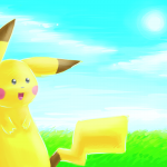 Pikachu in the fields