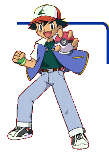 Ash from the Pokemon TCG GB Artwork