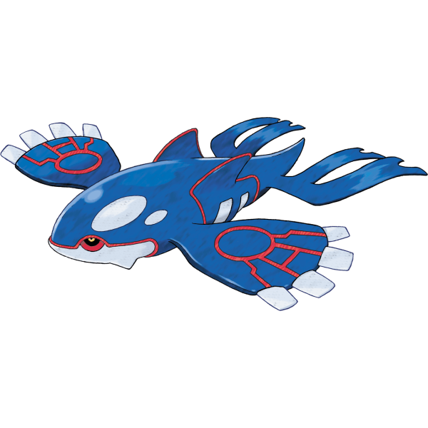 Kyogre, the Legendary mascot of Pokemon Sapphire