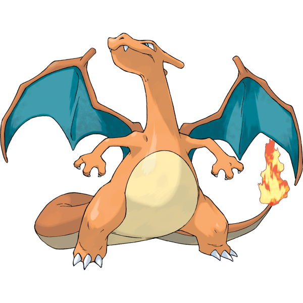 Charizard artwork from Pokemon Fire Red
