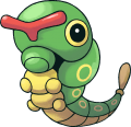 010Caterpie Pokemon Mystery Dungeon Red and Blue Rescue Teams