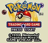 24795 pokemon trading card game game boy color screenshot title screen
