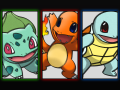 Gen 1 starter Pokemon: Bulbasaur, Charmander, Squirtle Wallpaper