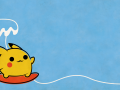 Pikachu Surfing Wallpaper
