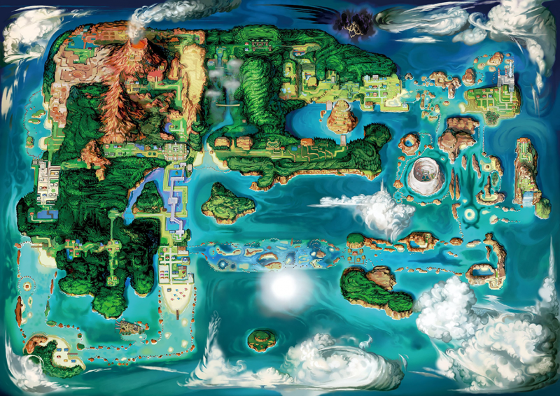 A map of the Hoenn region