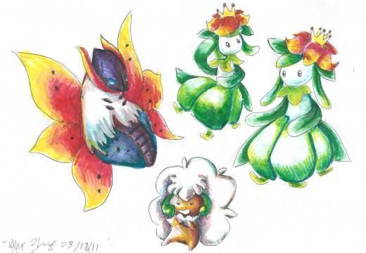 Grass and bug type Pokemon of Unova